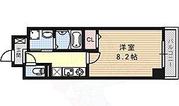 名古屋市営桜通線 桜山駅 徒歩4分の賃貸マンション 6階1Kの間取り