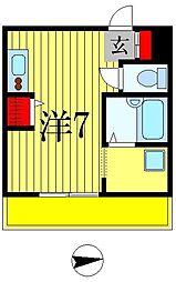 パラッツォ・シンパティコ[2階]の間取り