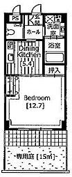 京都ガーデンテラス[209号室号室]の間取り