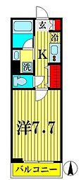 京成押上線 京成曳舟駅 徒歩6分の賃貸マンション 4階1Kの間取り