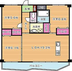 KSK中須コアプレイス[10階]の間取り
