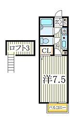第7フジハイツ[2階]の間取り