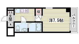 JR東海道・山陽本線 垂水駅 徒歩7分の賃貸マンション 4階1Kの間取り