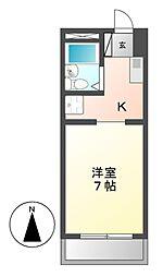第2足立ビル[2階]の間取り