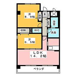 リヴェール末広II[1階]の間取り