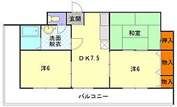 板倉第一ビル[308号室]の間取り