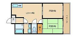 メゾンドユニ[4階]の間取り