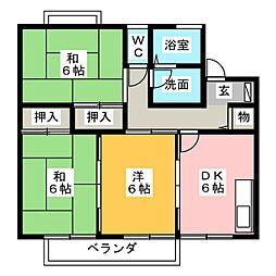 リバーサイドT・Y A棟[1階]の間取り