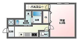 大阪府大阪市東住吉区田辺5丁目の賃貸アパートの間取り