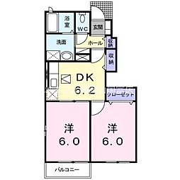 岡山県瀬戸内市長船町長船丁目なしの賃貸アパートの間取り