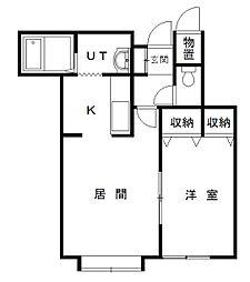 グレートビューF3・3 B棟[203号室]の間取り