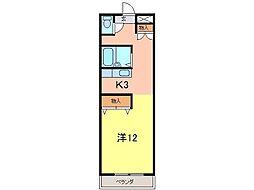 クリーンハイツ安井III[158号室]の間取り