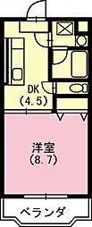 神奈川県厚木市岡田4丁目の賃貸マンションの間取り
