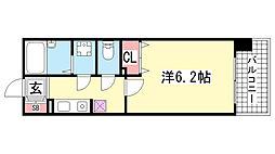 プレサンス新神戸[4階]の間取り