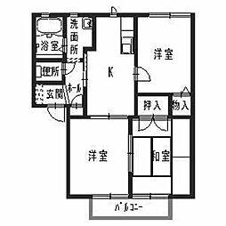 フォーレス飾磨[1階]の間取り