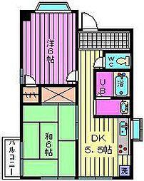 曽山コーポ[1階]の間取り
