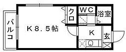 リブレア和白丘B[1階]の間取り