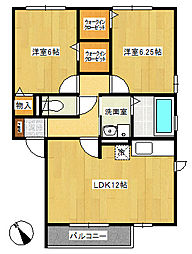 メゾンゴールド3[2階]の間取り