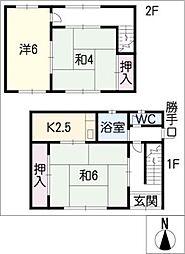 [タウンハウス] 岐阜県羽島市正木町曲利 の賃貸【/】の間取り