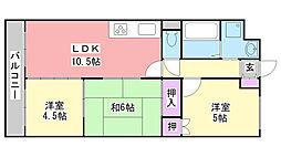 ハイメゾン平田[2階]の間取り