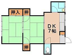 浮羽荘[2階]の間取り