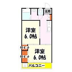 サンハイツ須賀[2階]の間取り