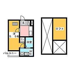 F・Fプレミア[1階]の間取り