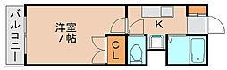 サンケイロイヤルコート福岡九大前[2階]の間取り