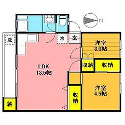 富士見町住宅35号棟[209号室]の間取り
