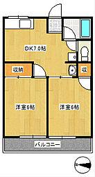 シティハイムコスモ2[2階]の間取り