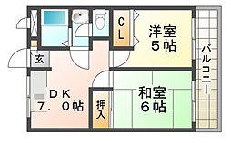 マンションフローラ[4階]の間取り