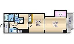 クレシア東心斎橋[2階]の間取り