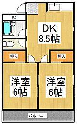 コーポ山田[3階]の間取り