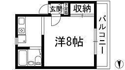 リバーサイド石橋[2階]の間取り