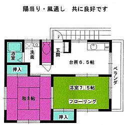 コ−ポさくら[2F号室]の間取り