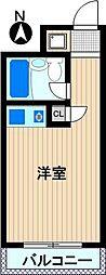プラザ新川崎[4階]の間取り