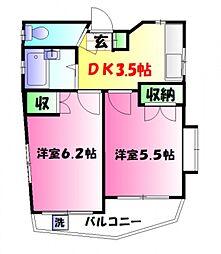プランドール2[1階]の間取り