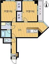 パレーシャル34[5階]の間取り
