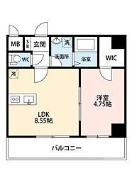 阪急千里線 吹田駅 徒歩8分の賃貸マンション 4階1LDKの間取り