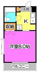 セザール第三東所沢[2階]の間取り