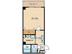大阪府八尾市山本高安町2丁目の賃貸マンションの間取り