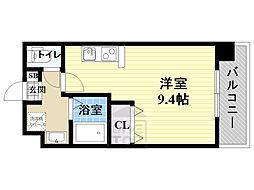 仮)都島本通4丁目新築マンション 8階ワンルームの間取り