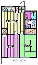 サンテラス篠田[1階]の間取り