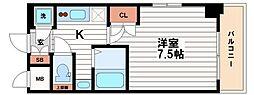 ジュネーゼグラン東梅田[7階]の間取り