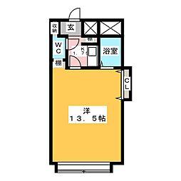 La Vent OBATA[3階]の間取り