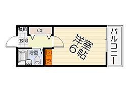 大阪府泉大津市豊中町3丁目の賃貸アパートの間取り