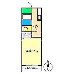 ハイスリー21II[3階]の間取り