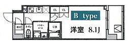 JR京浜東北・根岸線 大宮駅 徒歩9分の賃貸マンション 5階1Kの間取り