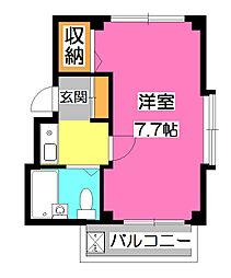ルフティーニ所沢[1階]の間取り