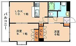 CENTURY椿 B[1階]の間取り